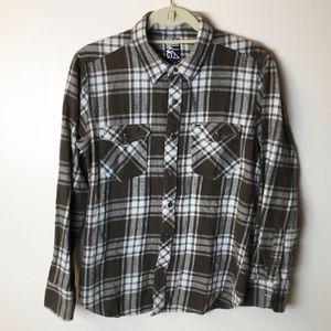 Billabong Plaid Flannel Button Down - M